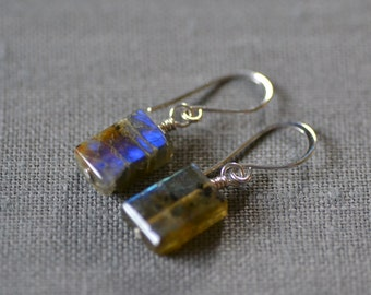 labradorite box earrings