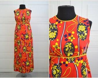 1960s Lanz Print Column Dress