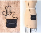80s rayon crepe mini dance purse - long shoulder strap / New Wave - metallic gold & black - disco - punk / 1980s tiny handbag
