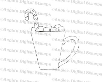 Cup of Cocoa Digital Stamp Image
