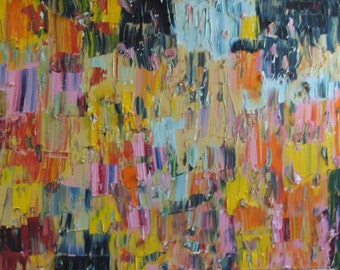 "Palette knife Original Large Abstract Modern Art Oil Painting Michel Campeau 24""x36"" Ready to ship!"