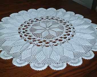 Gorgeous handcrafted centerpiece,white, measures 26 inches across