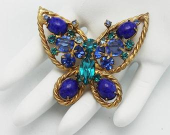 Vintage Alice Caviness Blue Butterfly Brooch