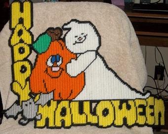 Happy Halloween Plastic Canvas Pattern