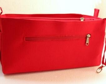 Purse organizer Fits Speedy 30- Bag organizer insert in Rich Red