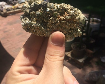 Large Cubed Pyrite Cluster from Mexico
