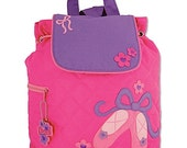Stephen Joseph ballet shoes backpack personalized monogrammed