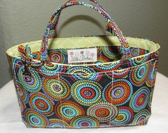 Purse Insert, Bag Organizer Insert, Bucket Style, 17 Pockets, Handles, Key Clasp, Handbag, Tote Bag, Diaper Bag,Travel Bag, Ready to Ship