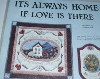 It's Always Home If Love Is There - Small Quilt Pattern and Directions - Joanne Kost from Designer Quilts from 1983