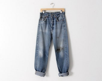 vintage Levi's 501 denim jeans, 31 x 34