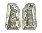 Easter Rabbit Chocolate Mold / Tin Eppelsheimer Mold / Collectible Mold / Easter Bunny Decor / Craft and Decor Idea / c1920s