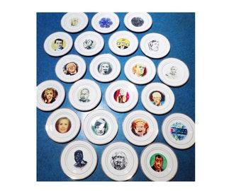 Political Collectible / 2016 Election Satire ART plates /raffle tickets