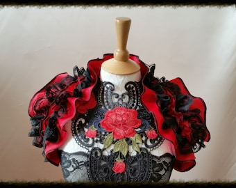 Couture Steampunk Opulent Opera Shrug Collar Wrap BURLESQUE Gothic