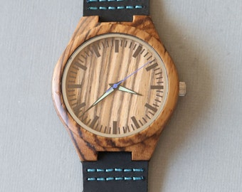 Personalized Wooden Watch, Groomsmen Gifts,Wood Watch, engraved with personal text - Gift for Him/Her, Anniversary, Wedding gift