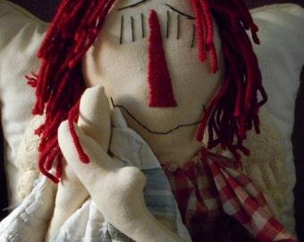 Raggedy Ann Handcrafted Doll