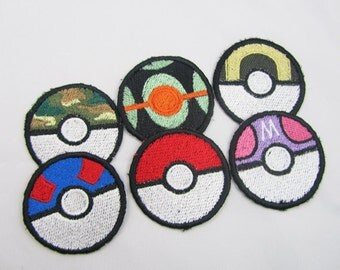 1 custom Pokeball Machine embroidered iron on or sew on Patch