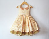 Gold Sparkle Celebration Dress with Petticoat