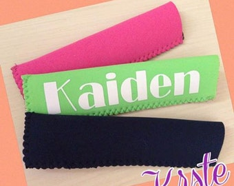 Summer fun, Birthday favors, Popsicles-Monogrammed Popsicle Coozies