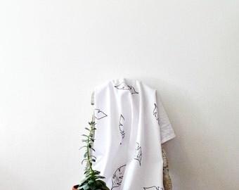 block print flour sack towel, tea towel, dish towels, cotton kitchen towels, housewarming gift, kitchen linens, shower hostess gift