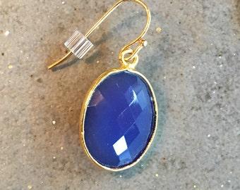 Royal Blue Chalcedony Earrings