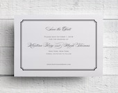 Black & White Save the Date Simple Save the Date - Sample