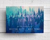 Winter Wedding Save the Date - Sample
