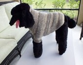 Dog Sweater Hand Knit Fair Isle Large 16  inches long