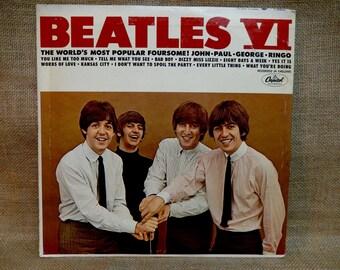 The Beatles - The Beatles VI - 1965 Vintage Vinyl  Record Album