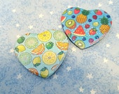 Sparkle Fruity Heart Buttons