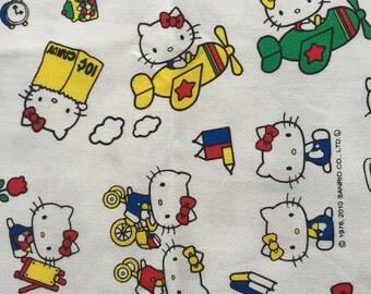 Half yard of hello kitty fabric white colour fabric