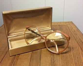 Vintage 1970s Christian Dior Glasses Frames 70s Lunettes Designer