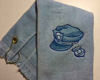 Personalized Police Officer golf or sports towel