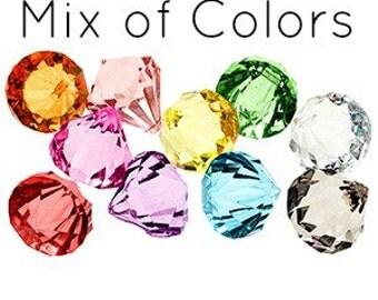 10 Bling DIAMOND Pendants JUMBO MIX Chunky Bead Acrylic Drop Centers H675