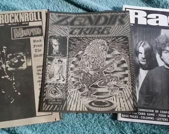 Maximum RocknRoll #151 Rage#6 Zendik Tribe Zine The Misfits The Melvins Lot