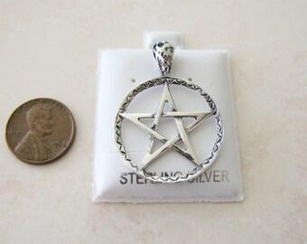Vintage Pentagram/Pentacle Sterling Silver Pendant