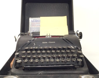 Smith-Corona Sterling Typewriter with Floating Shift Key from the 1940's