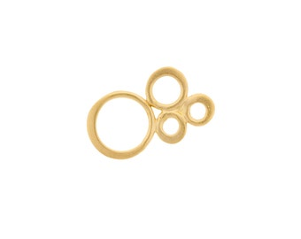 24Kt Gold Plated Sterling Silver Small Bubble Link 17mm Length - 1pc  High Quality 10% discounted (3716)/1
