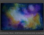 """Original Abstract Painting ~ by Alma Yamazaki ~ 18""""x36"""""""