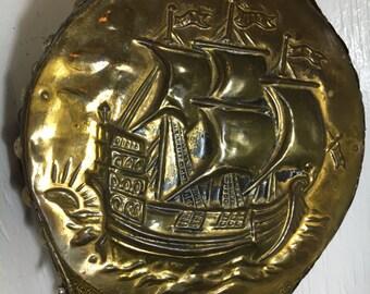 Fireplace bellows brass cuttysark ship