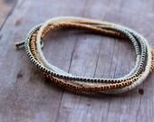 Silver and Gold Bracelet, Delicate Bracelet, Dainty Bracelet Stack, Simple Bracelet, Beaded Bracelets for Women, Stacking Bracelet Set