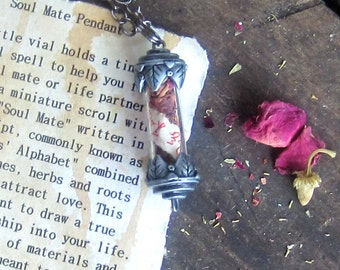 Wicca amulet love spell necklace witchcraft wiccan pagan magick magick occult metaphysics jewelry witchy mystical jewelry