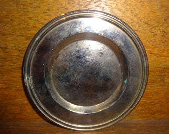Vintage English Small Metal Trinket Dish Bowl Plate Stand 1950-60's / English Shop