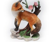 "Lenox Woodland Animal ""Early Morning Surprise"" Red Fox Bisque Porcelain Figurine"