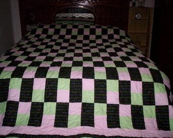 3-patch pieced quilt