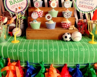 DIY, All Star Sports CUPCAKE TOPPERS