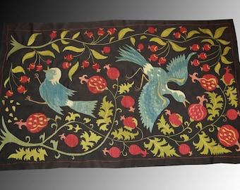 SALE Uzbek Nurata region silk handmade embroidery suzani  Birds
