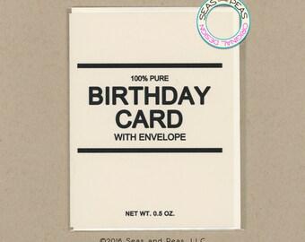 GENERIC BIRTHDAY CARD - Funny Birthday Card - Birthday Card - Birthday - Generic - Card for Friend - Funny Card - Happy Birthday - Item B069
