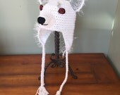 Ghost Wolf Game of Thrones Inspired Hat (You Choose Size)