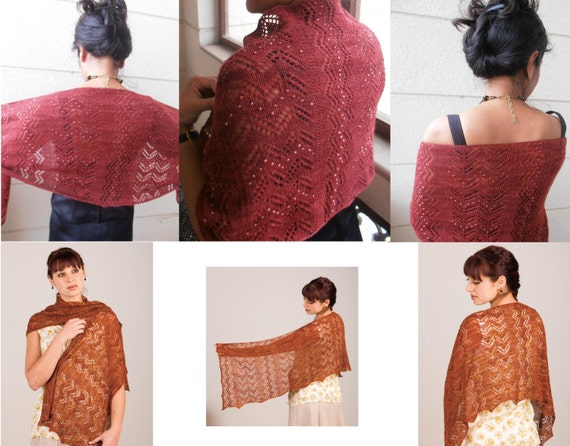 Knitting Pattern for beaded lace stole