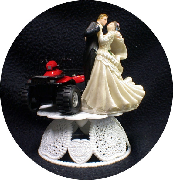 4 wheeler wedding cake toppers redquad atv road 4 wheeler wedding cake topper racing 10428